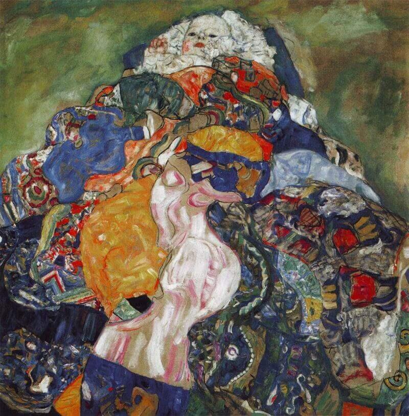 Baby 1917 By Gustav Klimt