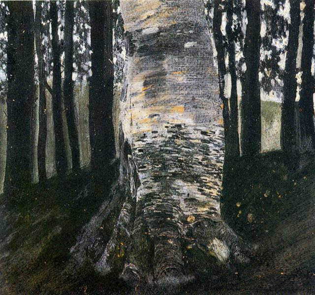 Birch in a Forest, 1903 by Gustav Klimt
