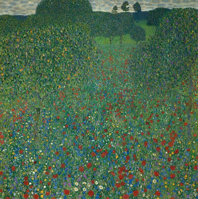Field of Poppies, 1907 by Gustav Klimt