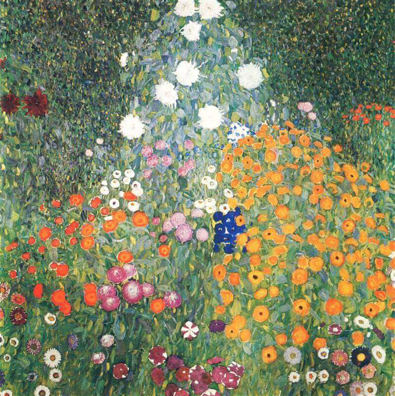 flower garden 1906 by gustav klimt - Flower Garden Paintings