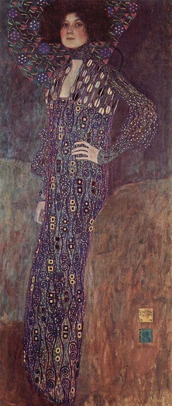 Portrait of Emilie Floge, 1902 by Gustav Klimt