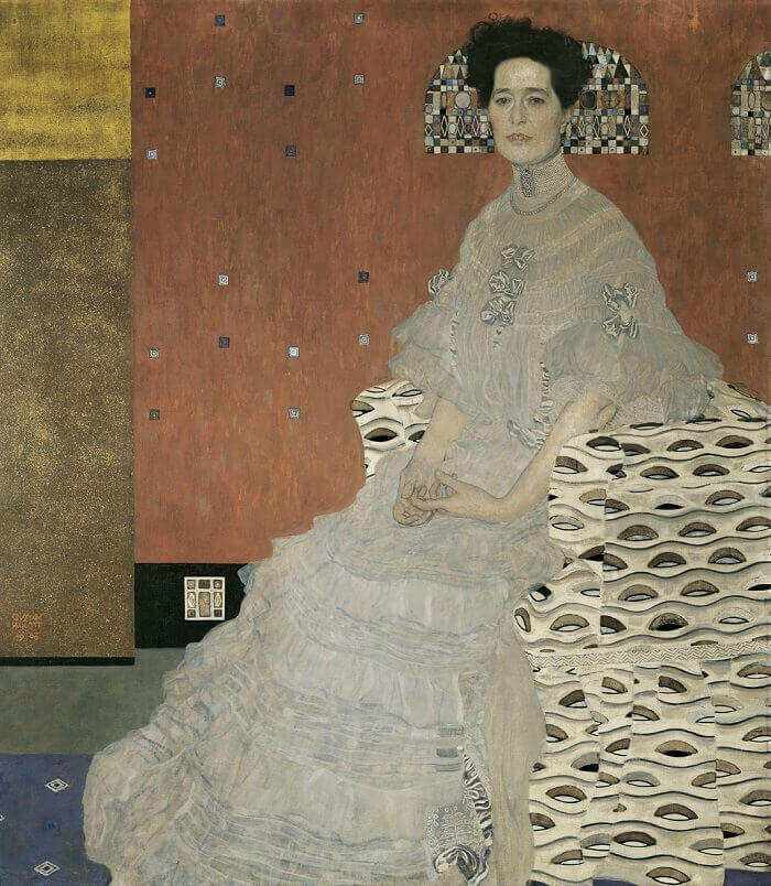 Portrait of Fritza Riedler, 1906 by Gustav Klimt