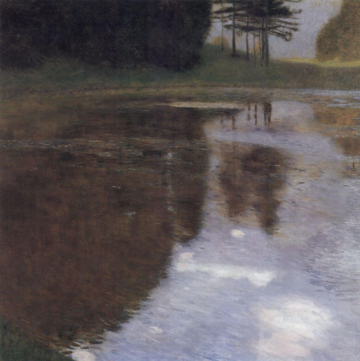 Quiet pond in the park of Appeal, 1899 by Gustav Klimt