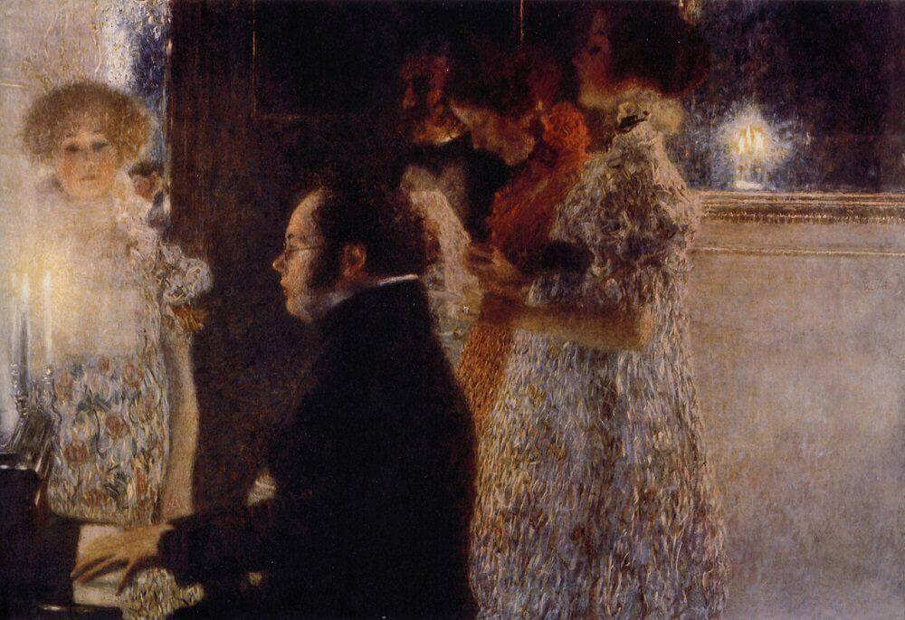 Schubert at the Piano, 1945 by Gustav Klimt