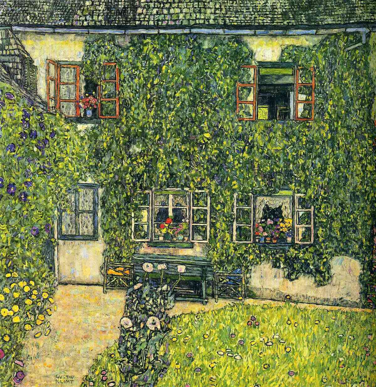 The House of Guardaboschi, 1912 by Gustav Klimt